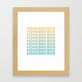 Homebrewer (70's Repeat) Framed Art Print