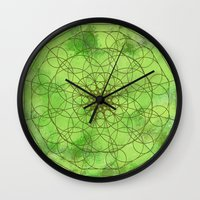 chakra Wall Clocks featuring HEART CHAKRA  by NioviSakali