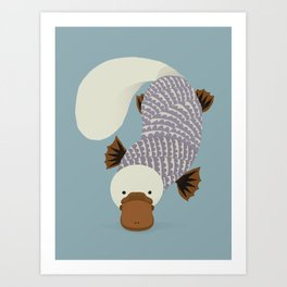 Whimsical Platypus Art Print