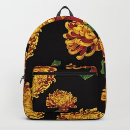 Floral Theme- Chrysanthemum Watercolor Painting Backpack
