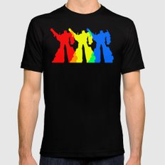 Optimus Prime Colors Black Mens Fitted Tee LARGE