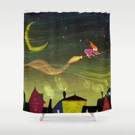 The Little Witch Shower Curtain