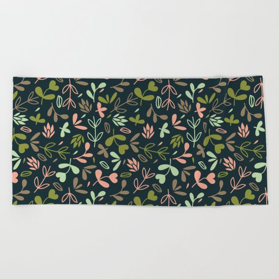 Colorful Lovely Pattern XVIV Beach Towel
