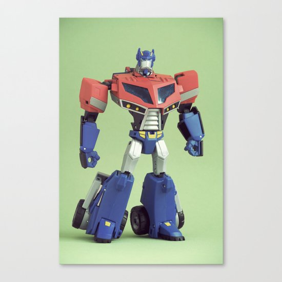 Optimus Prime (Animated) Canvas Print
