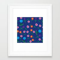 floral pattern Framed Art Prints featuring Floral pattern  by luizavictoryaPatterns
