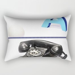 Telefono Vintage y Retro Rectangular Pillow