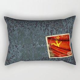 Sticker of Soviet Union (1922-1991) flag Rectangular Pillow