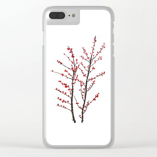 red beans branch Clear iPhone Case