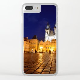 Prague old town square Clear iPhone Case