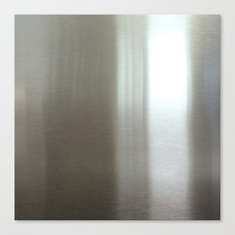 Industrial Brushed Stainless Canvas Print