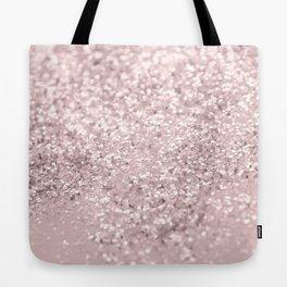Blush Glitter Dream #1 #shiny #decor #art #society6 Tote Bag