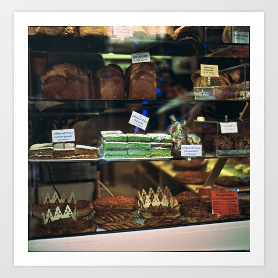 French Bakery  Art Print