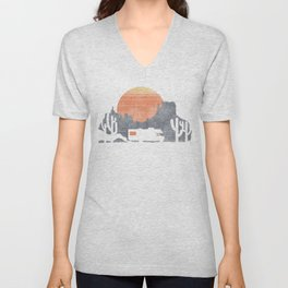 Trail of the dusty road Unisex V-Neck