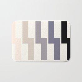 Grey Taupe Lightning Bolt Zig Zag Geometric Pattern Minimalist Zen Art Bath Mat