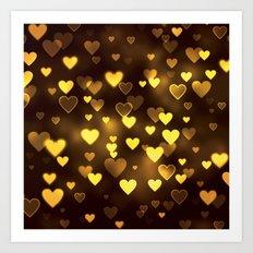 Heart Bokeh Art Print