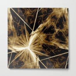 Star Burst Sepia-Toned Metal Print
