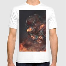 Thoughts of A Dying Atheist MEDIUM White Mens Fitted Tee