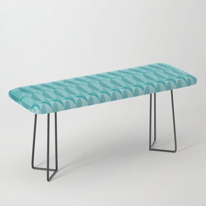 Leaves in the moonlight - a pattern in teal Bench