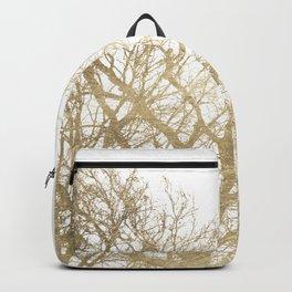 Elegant botanical gold foil tree  branch Backpack