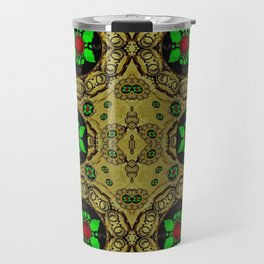 Namaste gold and florals in popart Travel Mug