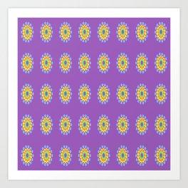 Purple Pop-Ups Art Print