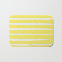 Irregular Stripes Yellow Bath Mat