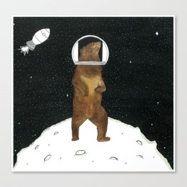 Bears in Space Canvas Print