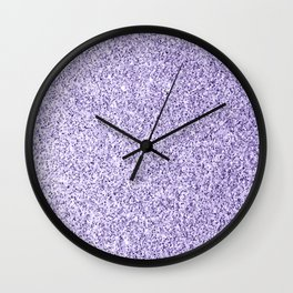 Ultra violet light purple glitter sparkles Wall Clock