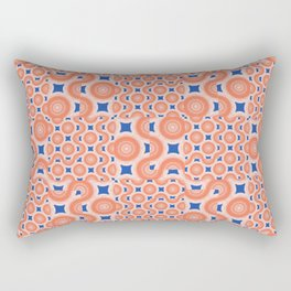 Orange Crush! A pop of orange and blue. Rectangular Pillow