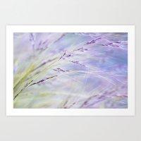 Blue Grass Art Print