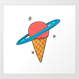 ice-cream star Art Print
