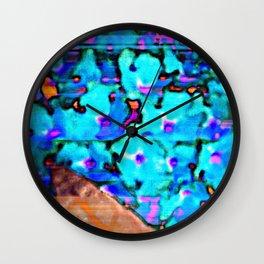 Blue Butterfly Bush  Wall Clock