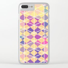 Purple indulgence pattern art Clear iPhone Case