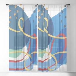 ode to miro Sheer Curtain