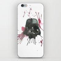 dark side iPhone & iPod Skins featuring Dark Side by SpooksieBoo