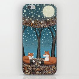 starlit foxes iPhone Skin