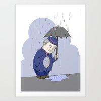 Rain man Art Print