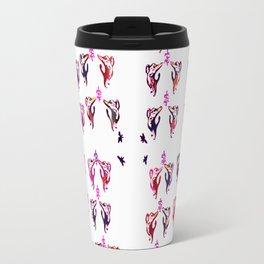 red purple cats Travel Mug