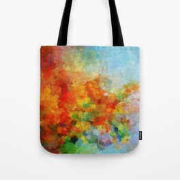 Abstract and Minimalist Landscape Painting Tote Bag