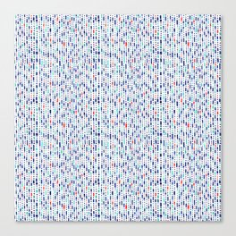 Cool Blue, Orange and Turquoise Geometric Pattern Canvas Print