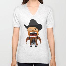Screaming Walker Texas Ranger Unisex V-Neck