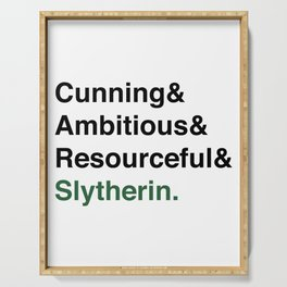 Modern Slytherin House Traits Serving Tray