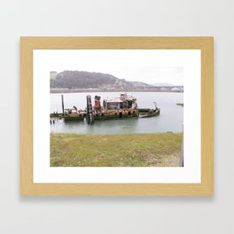 old fishing boat Framed Art Print