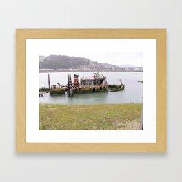 old fishing boat Framed Art Print