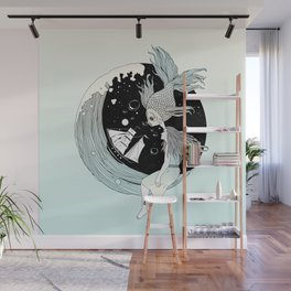 Moonwave (Or the Muse & the Seemingly Eternal Search for Existence in the Sea of Darkness & Dreams) Wall Mural