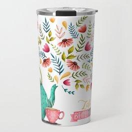 Beau-tea-ful Life Illustration Travel Mug