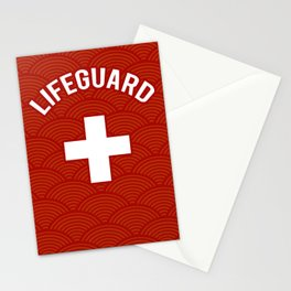Lifeguard, Life guarding, Coast Guard, Beach , Baywatch Stationery Cards