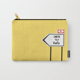 Haifa, This Way Carry-All Pouch