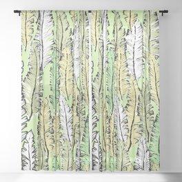 mint tropical Sheer Curtain