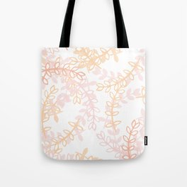 Kay - Blush and Pink Floral Print Tote Bag
